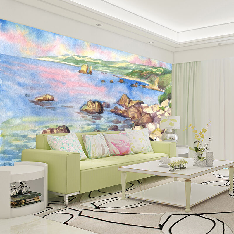3D Sea Stone Sky 734 Wallpaper Mural Paper Wall Print Wallpaper Murals UK