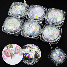 6 Pots Fashion Broken Glass Nail Art Decoration Paillette Flake Irregular Foil