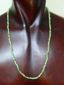 (eH008) Tibet: Old ethnic necklace with small glass beads from Nepal