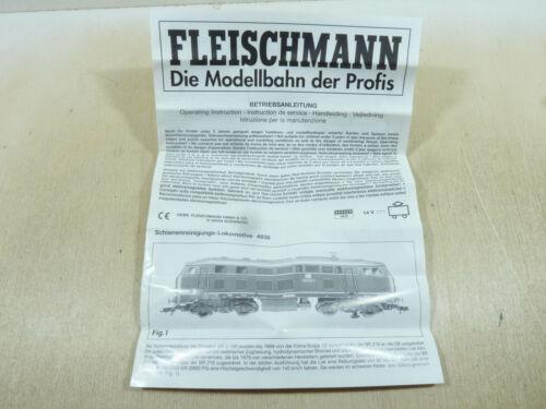 Fleischmann H0 Betriebsanleitung 4938 Diesellok 215 216 218