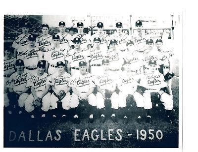 1951 DALLAS EAGLES 8X10 TEAM PHOTO BASEBALL TEXAS