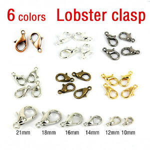 Hot Sale Silver//Gold//Bronze Lobster Claw Clasps Hooks Finding DIY 10//12//14//16mm