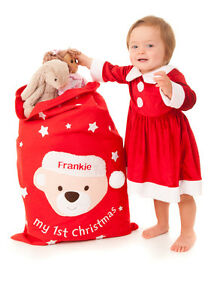 Image is loading Personalised-Handcrafted-Baby-039-s-First-Christmas-Gift- 1f49d49f6