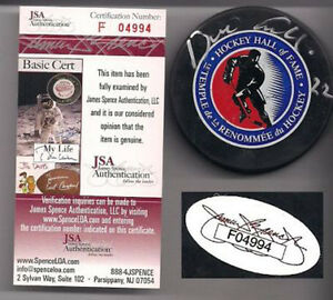 a0dc0f466 Image is loading DINO-CICCARELLI-SIGNED-HOF-PUCK-JSA-RED-WINGS-