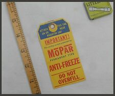 1940's Vintage Mopar New Radiator Tag Chrysler Plymouth DeSoto Dodge Truck 1950