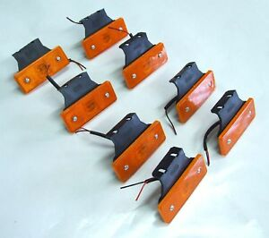 8-pcs-12v-LED-amber-orange-side-marker-light-indicator-lamp-trailer-truck-lorry