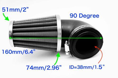 3 Types 38mm  Mini Air Intake Steel Mesh Filter for Motorbike 32 Motor
