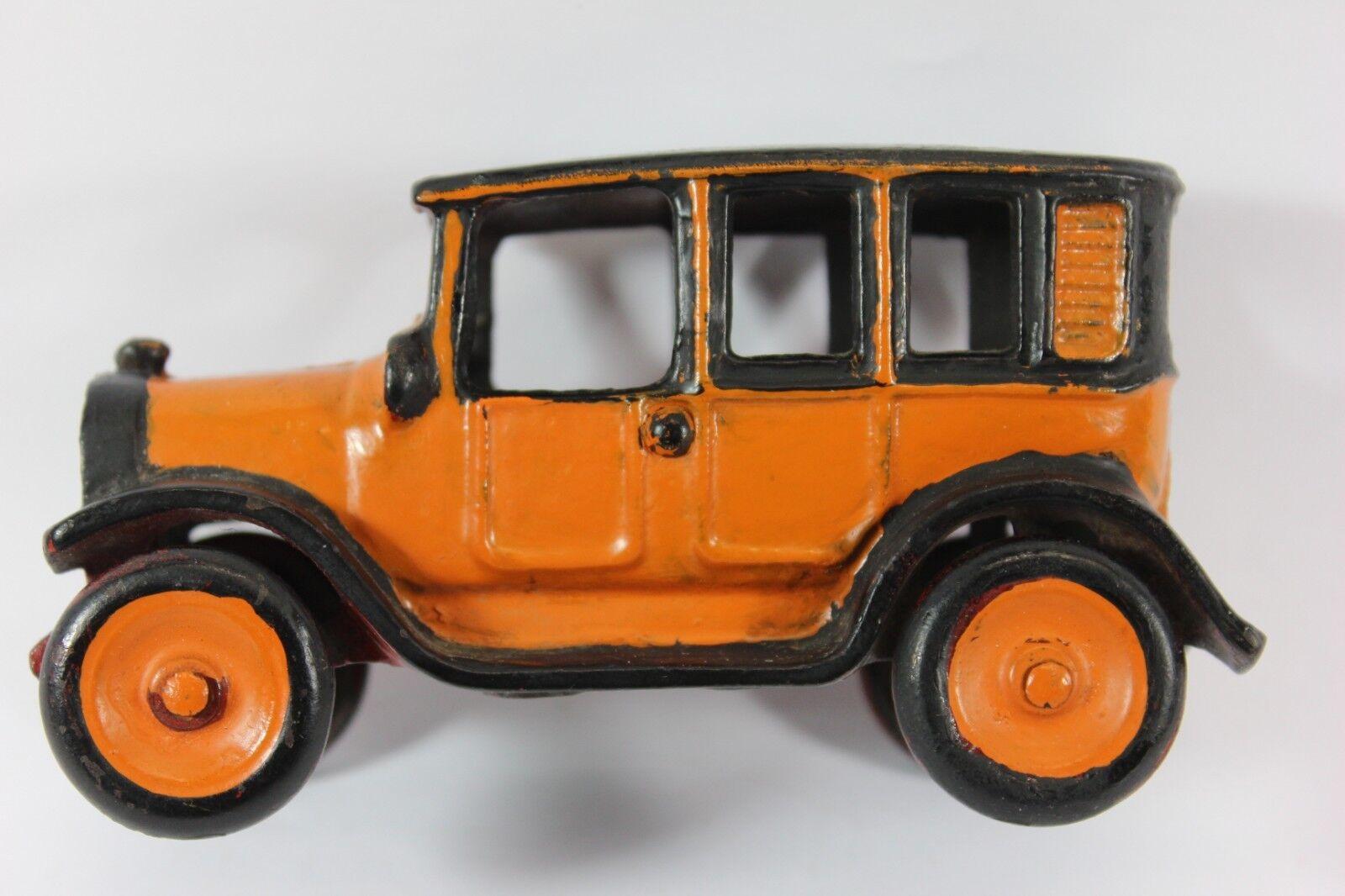 1927 Arcade Nº 3 Amarillo De Hierro Fundido Cab 5  AR253 Estampado Arcade Nº 3 (raro)