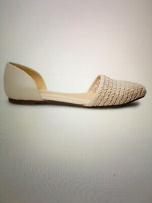 LC Lauren Conrad Womens Woven Ballet Flats Size 9.5 Color