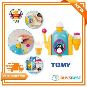 Tomy-Bath-Foam-Pretend-Ice-Cream-Cone-Factory-Preschool-Children-Toy-Bath-Toy