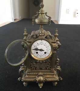 Tiffany Co Mantel Clock Bronze