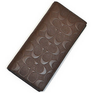 15edd700 Details about NWT Coach $250 Men Breast Pocket Wallet In Signature  Crossgrain Leather F75365