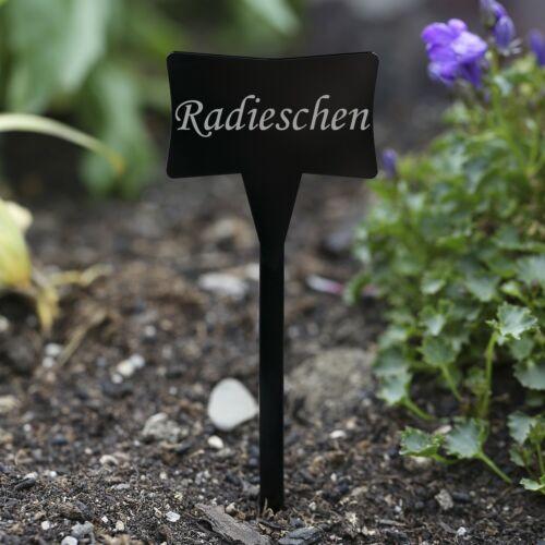 Pflanze Acrylglas Pflanzschilder Slave schwarz Kräuterschilder Gartenstecker