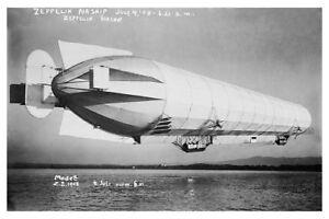 ZEPPELIN-BLIMP-AIRSHIP-TAKEOFF-1908-8x12-SILVER-HALIDE-PHOTO-PRINT