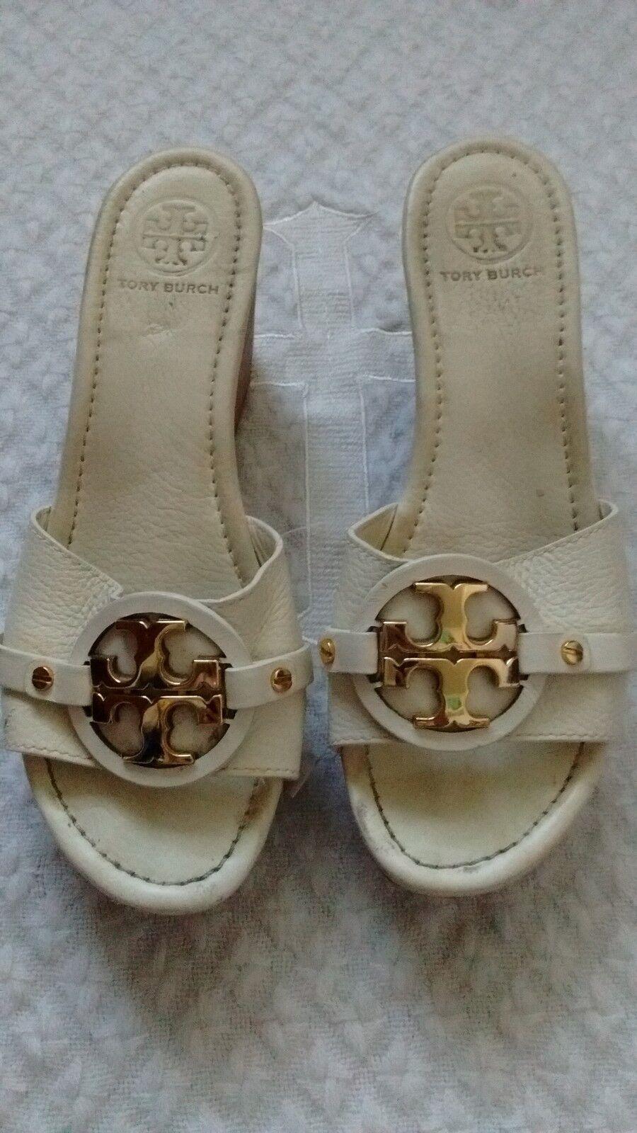 Auténticos Auténticos Auténticos zapatos de cuña de Tory Burch Beige para Mujer Talla 7.5 hecho en Brasil  Ahorre 35% - 70% de descuento