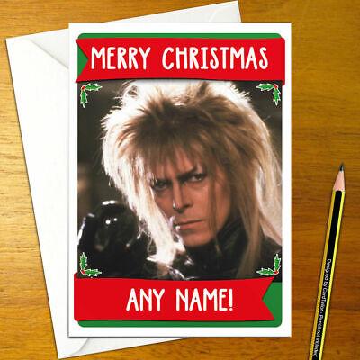DAVID BOWIE Personalised Christmas Card music iggy pop happy xmas holiday