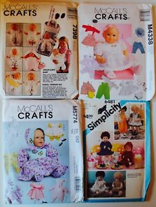 RARE-Vintage-DOLL-CLOTHES-Sewing-Pattern-UC-FF-YOU-PICK