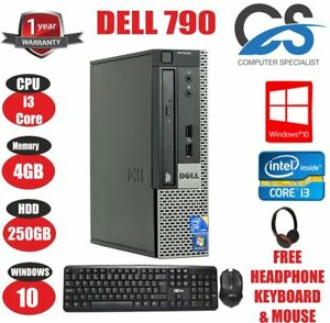Dell optiplex 790 ordinateur de bureau tour pc intel core i3 2120 ghz ebay - Ordinateur de bureau intel core i3 ...
