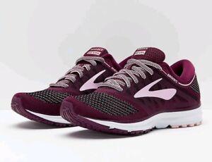 Brooks Women/'s Revel 120249-1B-598 Plum//Pink//Black Running Sneakers