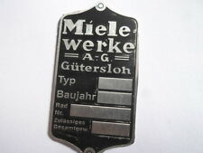 Schild Typenschild id plate Miele Motorrad Moped s12