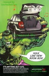Details about Dodge Caliber, 2007: Hulk Likes New Boom Box: Print Ad!