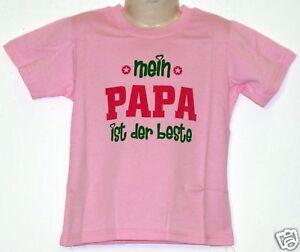 Kinder-T-shirt-Papa-ist-der-Beste-rosa-86-bis-128