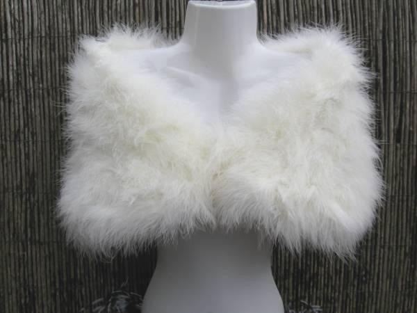 Ivoire wrap / mariée blanc marabou feather hausser / wrap Ivoire / volé 7e6dca