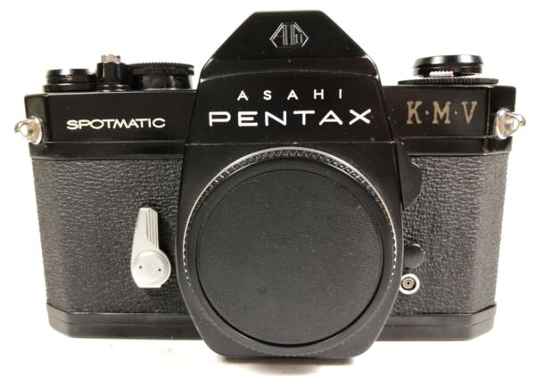 Pentax Spotmatic SP II black paint nice and clean but no meter
