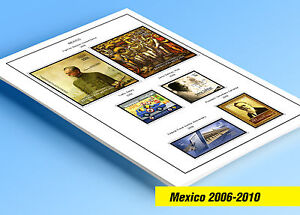 COLOR PRINTED MEXICO 2006-2010 STAMP ALBUM PAGES (47 illustrated pages)