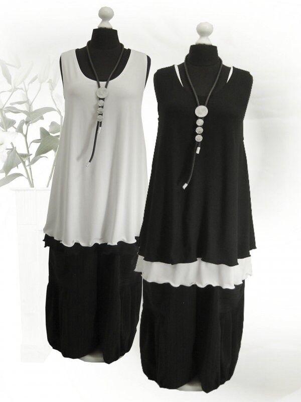 PoCo LAGENLOOK Basic Top Long Shirt Tunika 44 46 48 50 52 54 56 58 L XL XXL XXXL