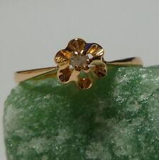 Toller Ring Rose Damenring 58 (18,5 mm Ø) 333/8k Gold mit Diamant 0,05ct