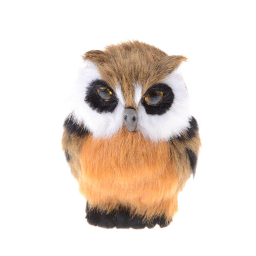 Artificial Animal Owl Toy Home Furnishing Decoration Christmas Gift For Baby  Fz