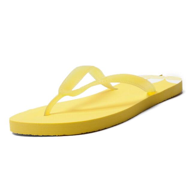 online retailer 6a443 db9c4 Womens Adidas Originals adi Sun Flip-Flops Sandals Pool Beach Shoes Yellow