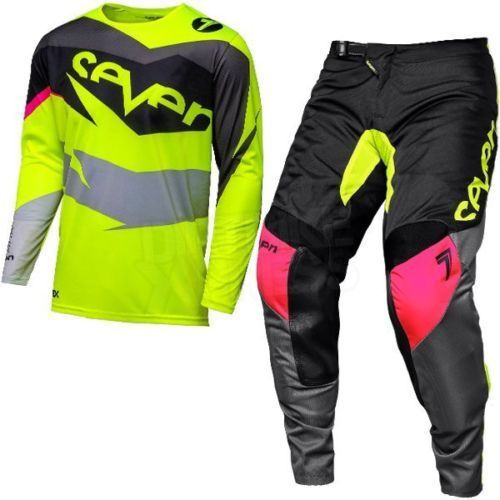 Seven Mx 18.1 Annex Ignite Black Flo Yellow Kids Youth Motocross Mx