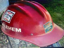 Complete Bethlehem Steel Ed Bullard Hard Hat Helmet