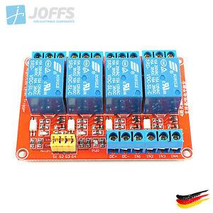 4-Kanal-5V-Relais-Modul-mit-Optokoppler-fuer-u-a-Arduino-4Ch-High-Low-Trigger
