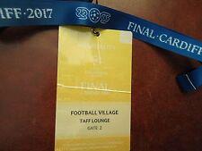 TICKET Pass gelb Keyholder UEFA CL Finale 2017 Juventus Turin - Real Madrid # 3