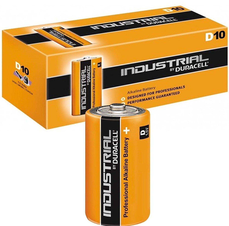 10 x Duracell D Size Industrial Procell Alkaline Batteries (LR20 MN1300 Mono)