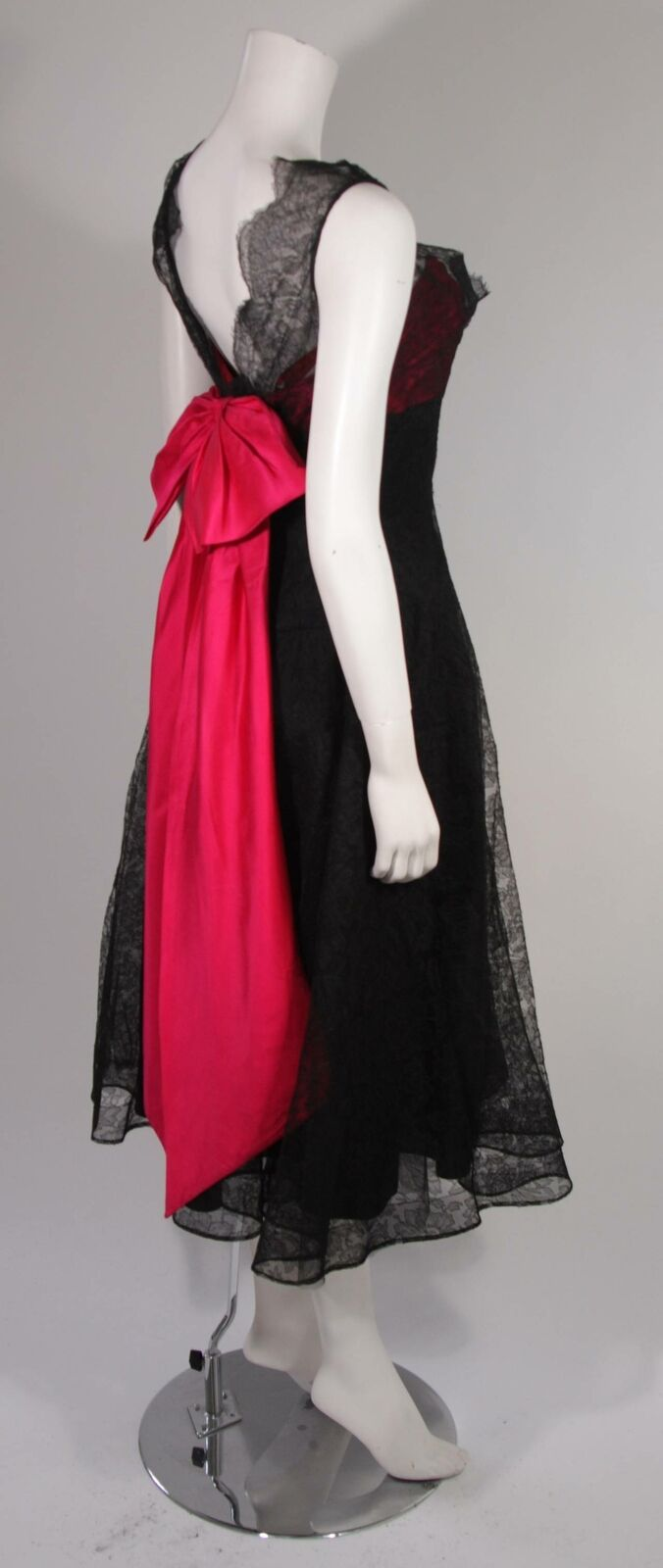 CEIL CHAPMAN Black Lace Cocktail Dress with Large… - image 7