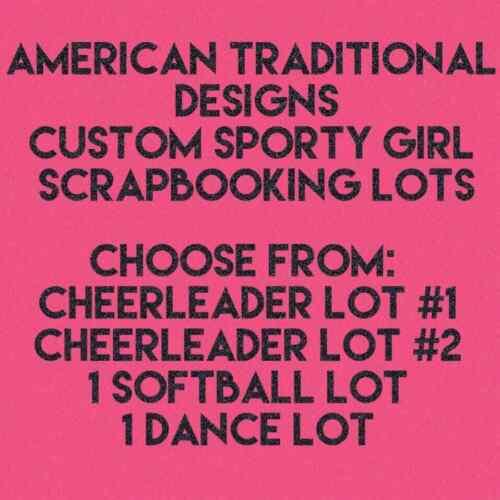 "Custom Sporty Girls Scrapbooking Lot 12/""x12/"" Softball Cheerleading Dance Ballet"