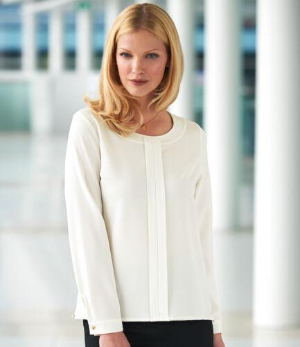 Brook Taverner Round Neck Ladies Riola Long Sleeve Shirt Stretch Fabric
