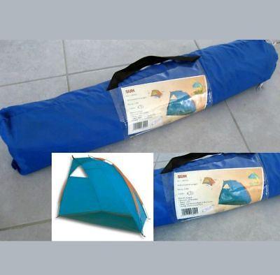 Tenda Parasole Da Spiaggia Giardino X 2 Persone In Nylon Blu Azzurra Tipo Igloo Rinfrescante E Benefico Per Gli Occhi