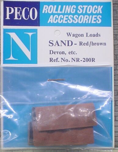 RED//BROWN /'N/' GAUGE QTY 1 WAGON LOAD SAND PECO NR-200R - NEW