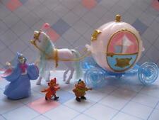 POLLY POCKET PRINCESS DISNEY Cinderella Coach Carriage/Horse Fairy godmother Gus