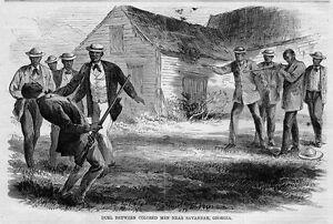 NEGROES-COLORED-MEN-DUEL-NEAR-SAVANNAH-GEORGIA-FORMER-SLAVES-NEGRO-BLACK-HISTORY