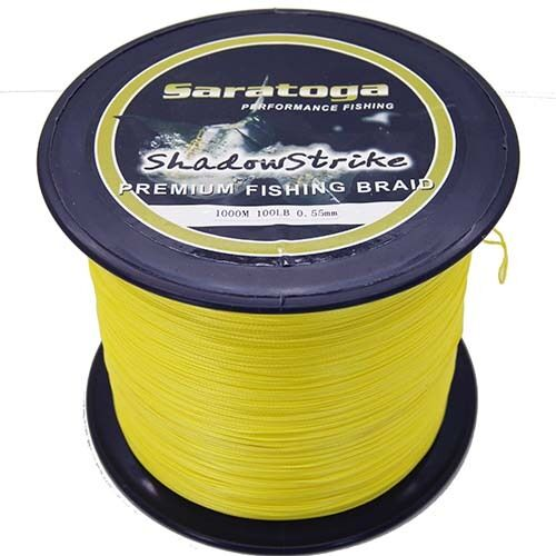 8 Strands 1000M Yellow Power PE Line Dyneema Saratoga Braided Fishing Line