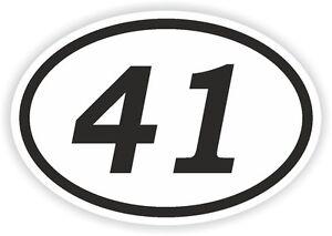 41-Forty-One-NUMERO-OVALE-ADESIVO-PARAURTI-ADESIVI-MOTO-DA-CROSS-Adesivo