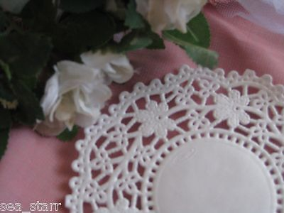 """4.5"""" INCH WHITE DAISY FLOWER LACE PAPER  DOILY DOILIES CRAFT 100 PCS CANADA ❤"""