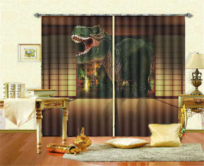 Dinosaurs Distributed 3D Curtain Blockout Photo Printing Curtains Drape Fabric