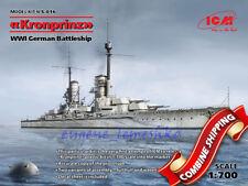 ICM —WWI German Battleship Grosser Kurfürst— Plastic model kit 1:700 Scale #S015